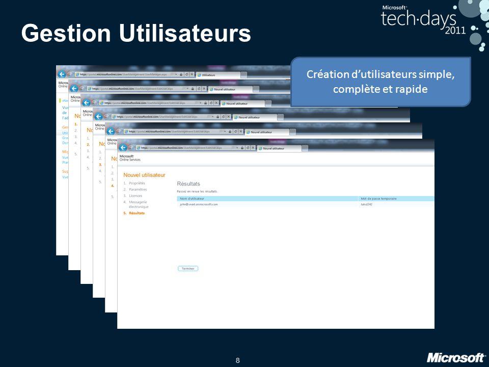Création d'utilisateurs simple, complète et rapide