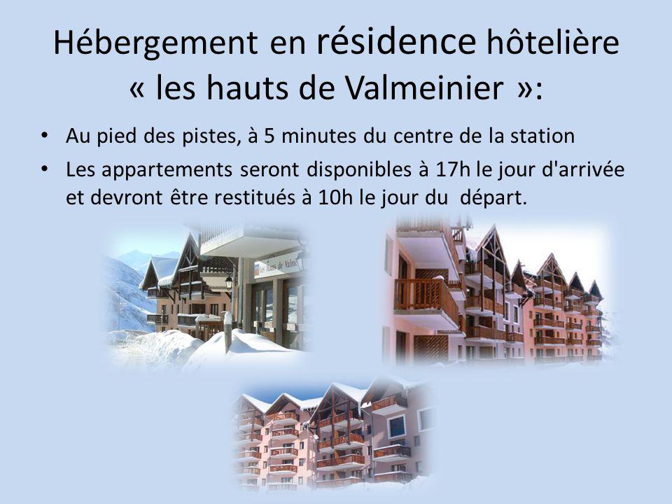 Hébergement en résidence hôtelière « les hauts de Valmeinier »:
