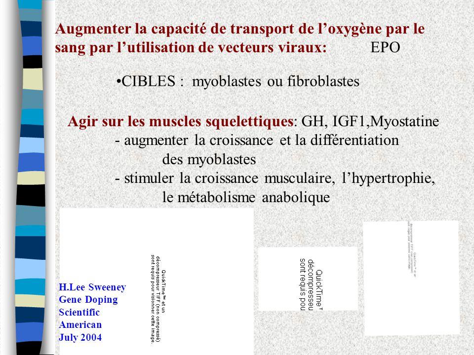 •CIBLES : myoblastes ou fibroblastes