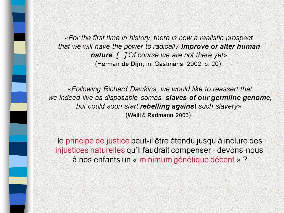 le principe de justice peut-il être étendu jusqu'à inclure des