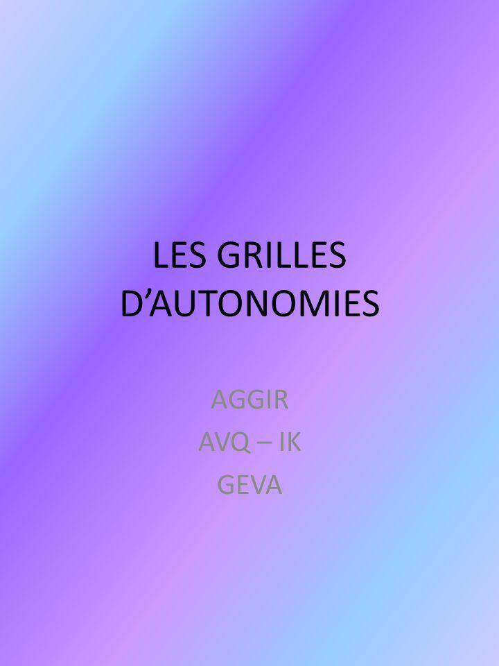 LES GRILLES D'AUTONOMIES