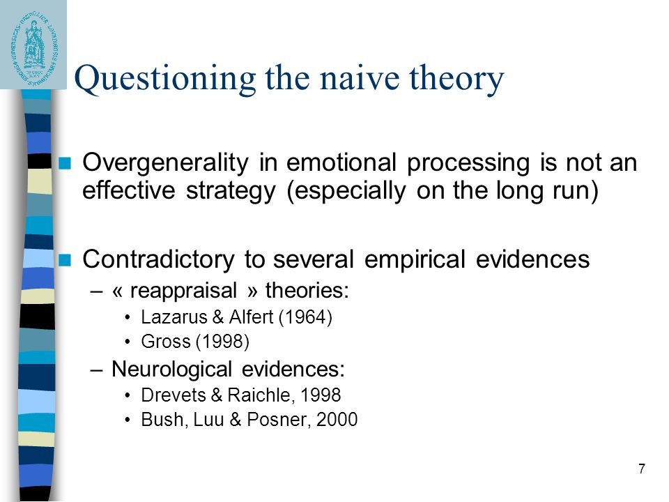 Questioning the naive theory