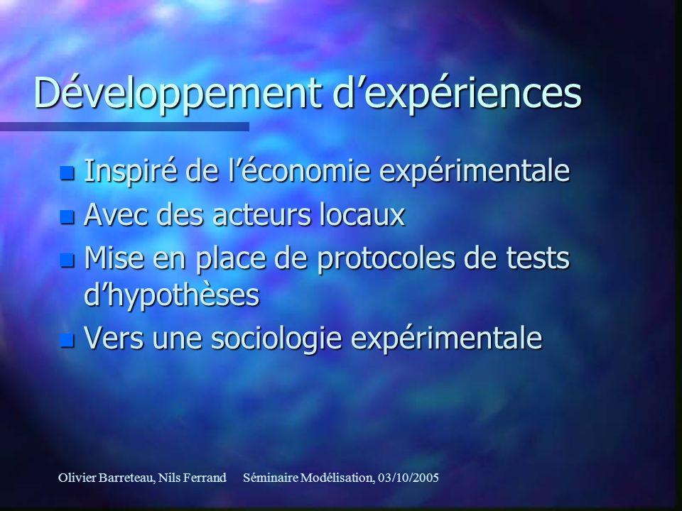 Développement d'expériences