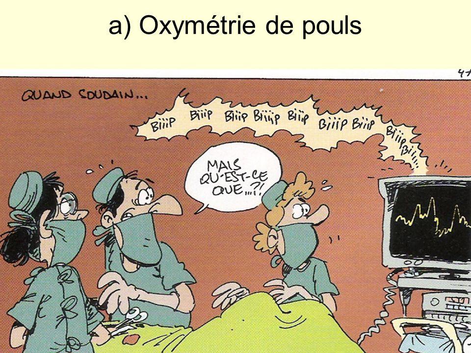 a) Oxymétrie de pouls