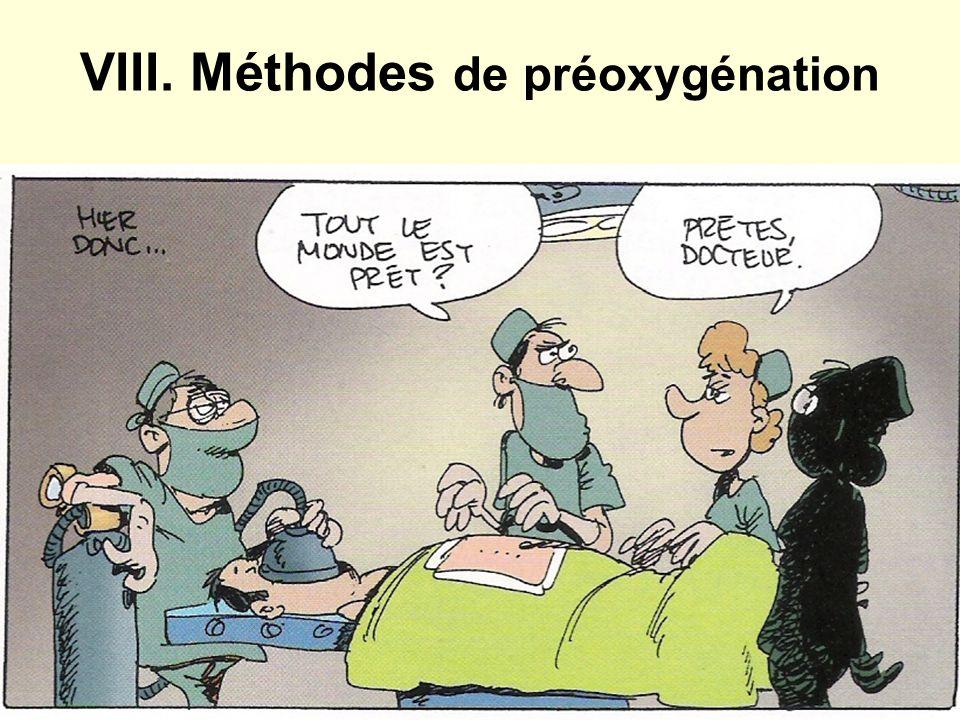 VIII. Méthodes de préoxygénation