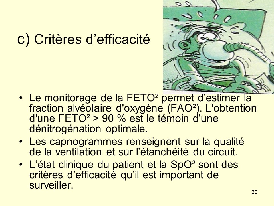 c) Critères d'efficacité