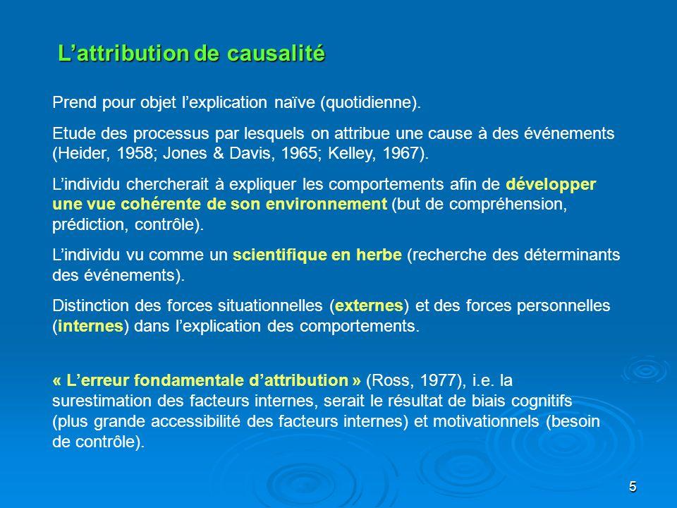 L'attribution de causalité