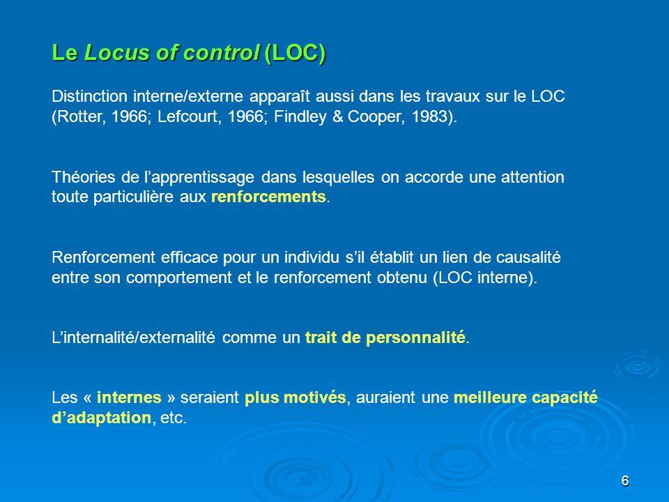 Le Locus of control (LOC)
