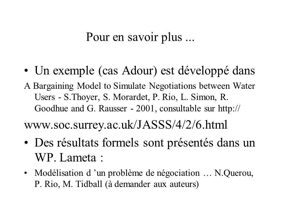 Un exemple (cas Adour) est développé dans