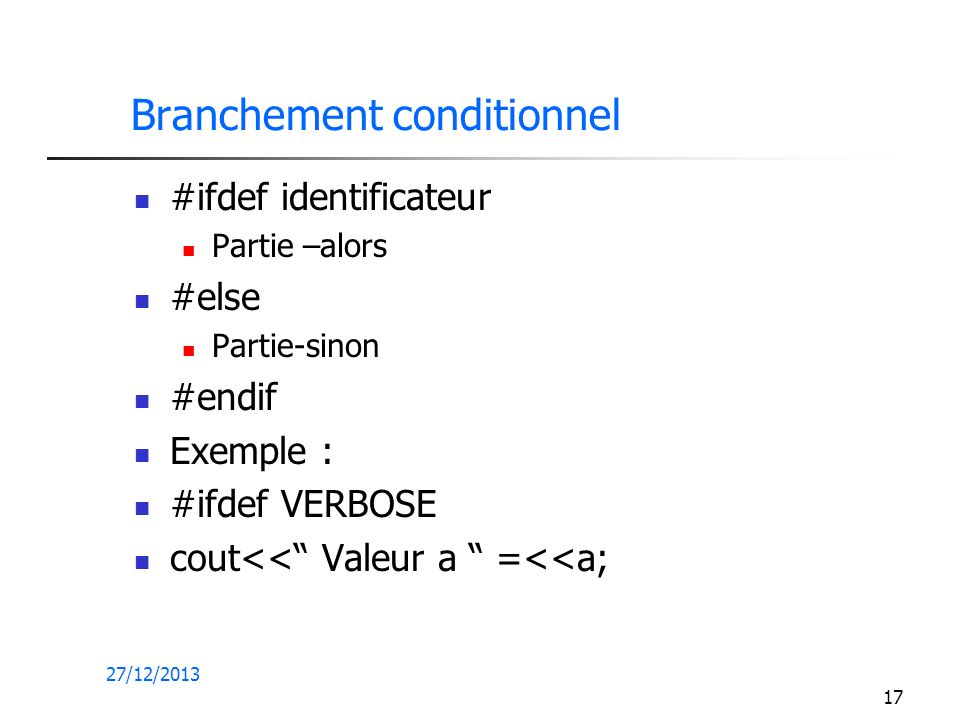 Branchement conditionnel