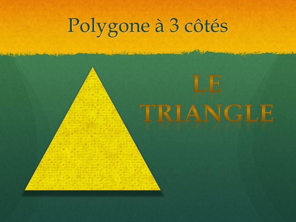 Polygone à 3 côtés Le triangle