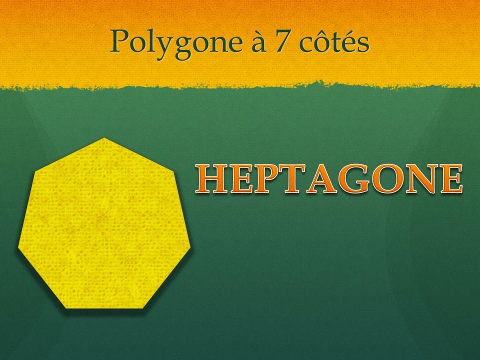 Polygone à 7 côtés HEPTAGONE