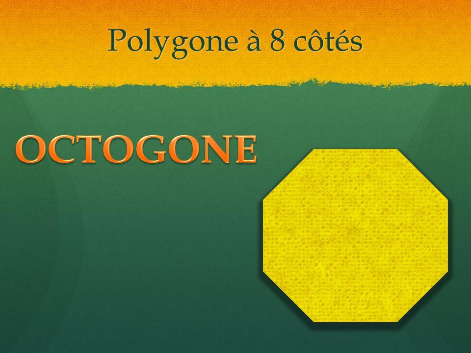 Polygone à 8 côtés OCTOGONE