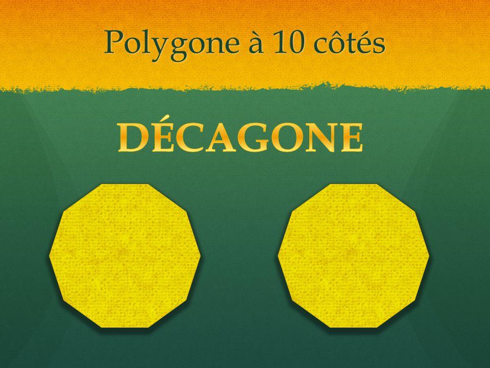 Polygone à 10 côtés DÉCAGONE