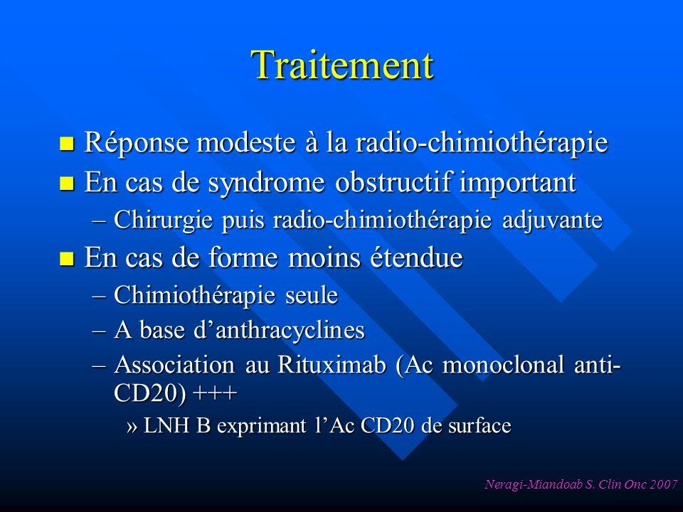Traitement Réponse modeste à la radio-chimiothérapie
