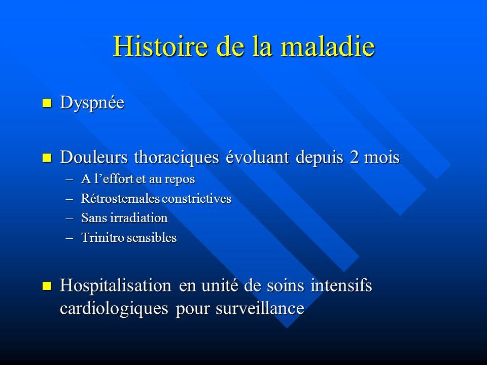 Histoire de la maladie Dyspnée