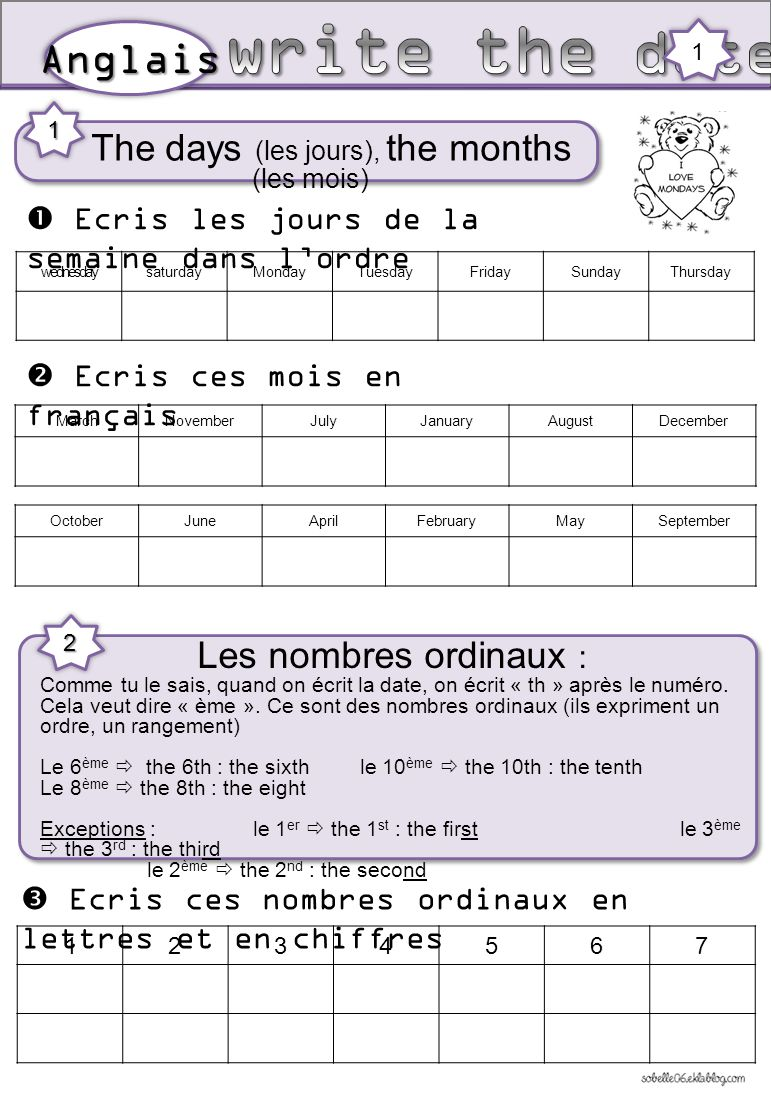 Connu The days (les jours), the months (les mois) - ppt video online  QR56