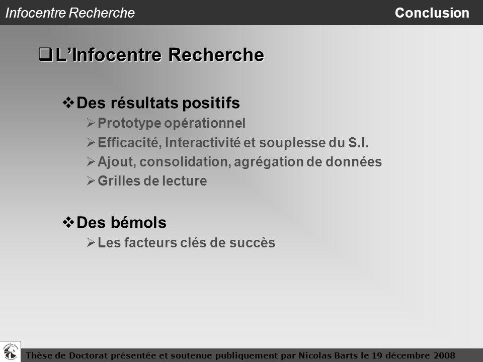 Infocentre Recherche Conclusion