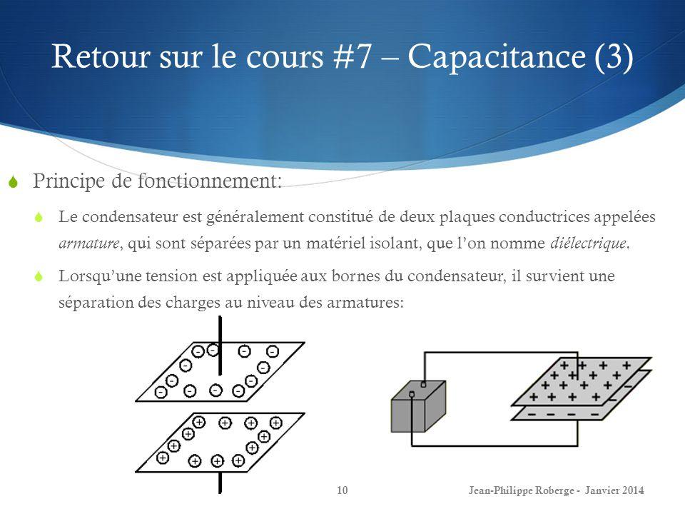 Retour sur le cours #7 – Capacitance (3)