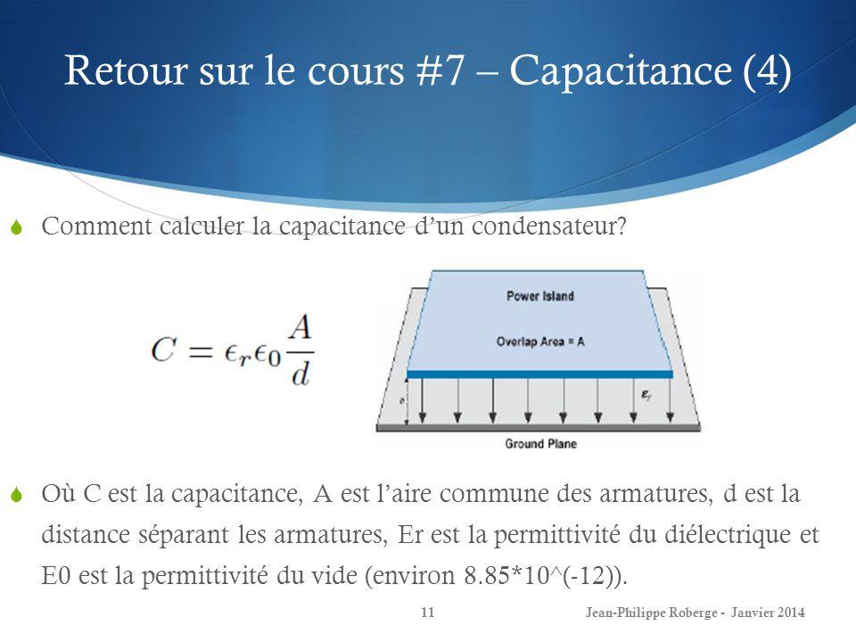 Retour sur le cours #7 – Capacitance (4)