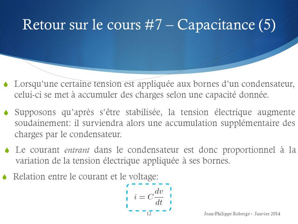Retour sur le cours #7 – Capacitance (5)