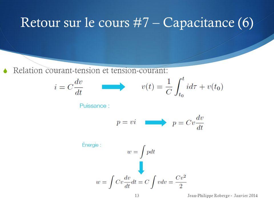 Retour sur le cours #7 – Capacitance (6)