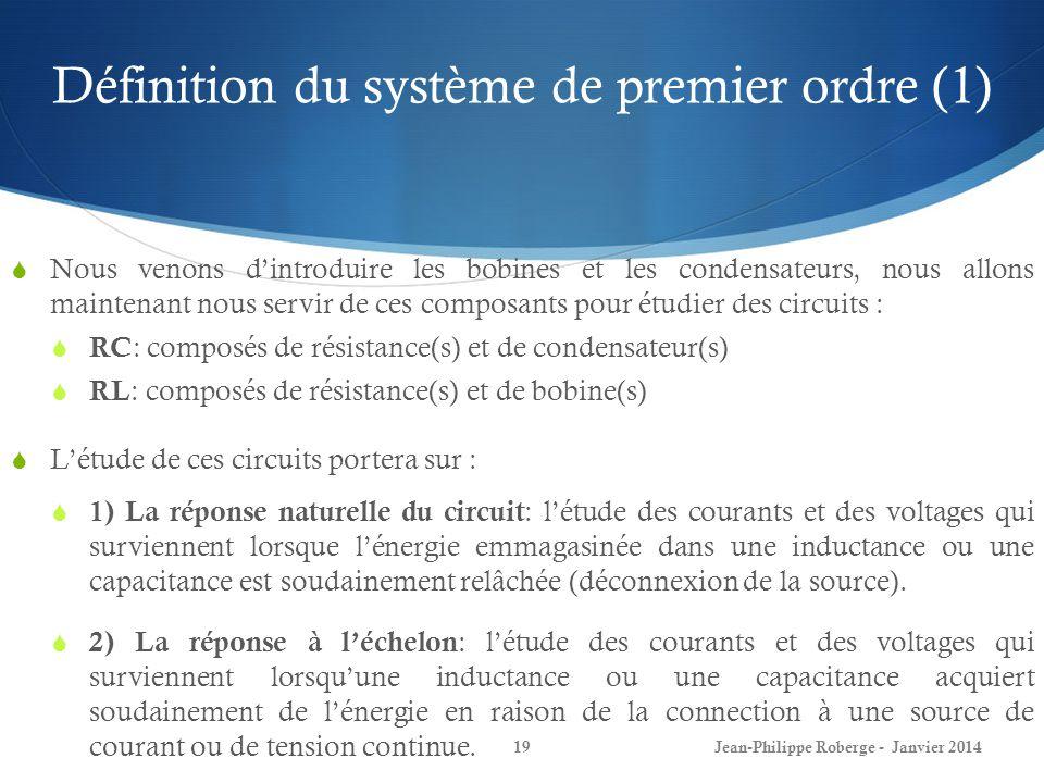 Définition du système de premier ordre (1)
