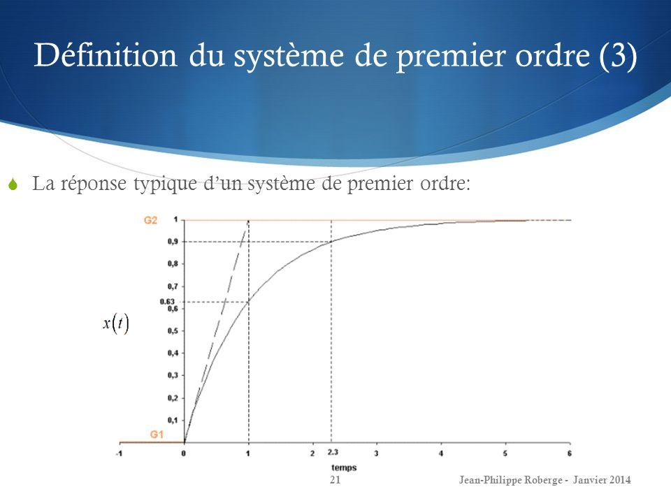 Définition du système de premier ordre (3)