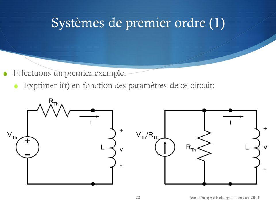 Systèmes de premier ordre (1)