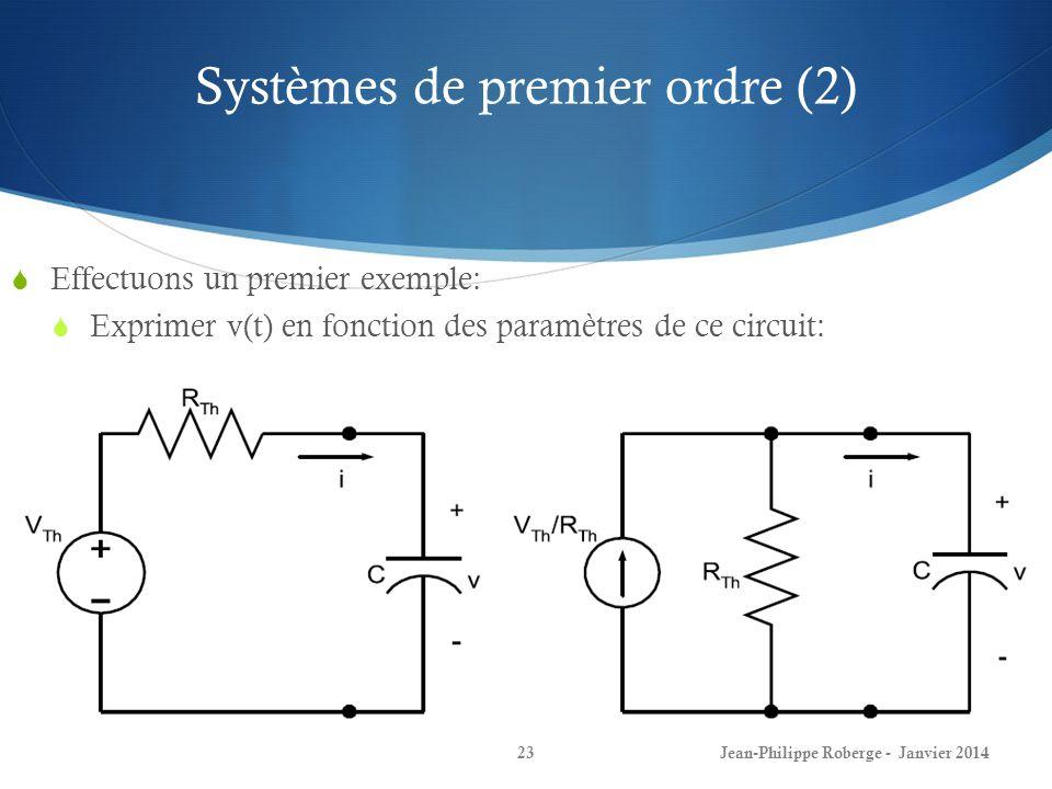 Systèmes de premier ordre (2)