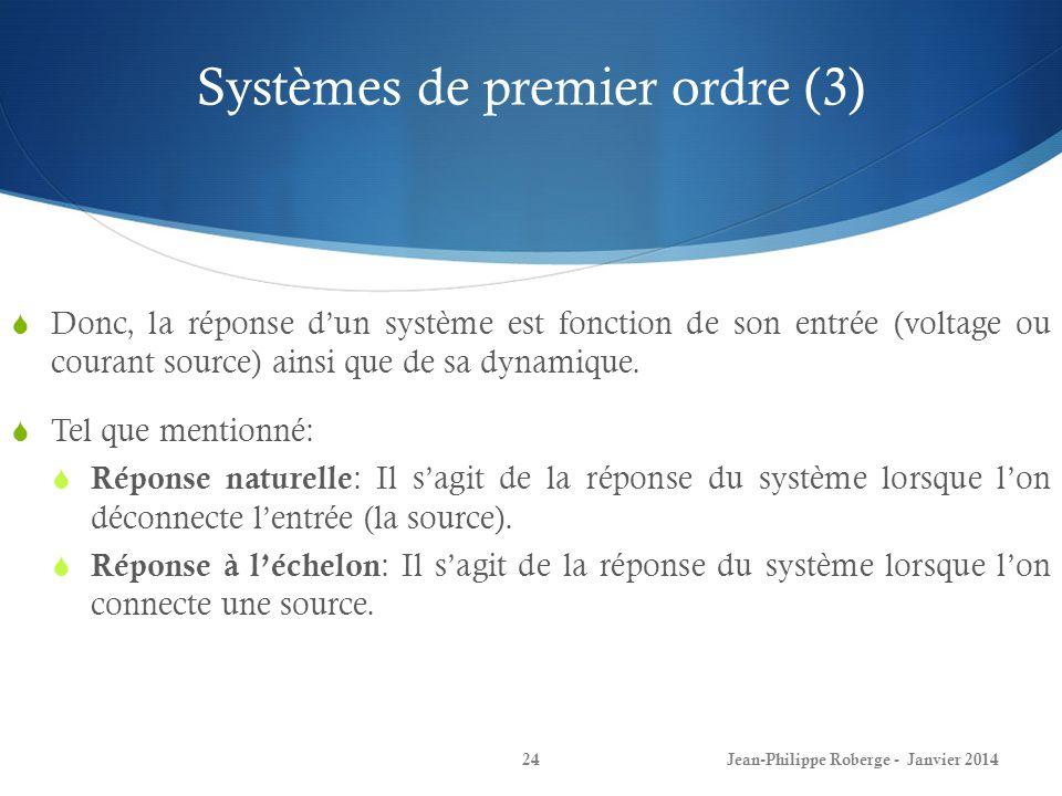 Systèmes de premier ordre (3)