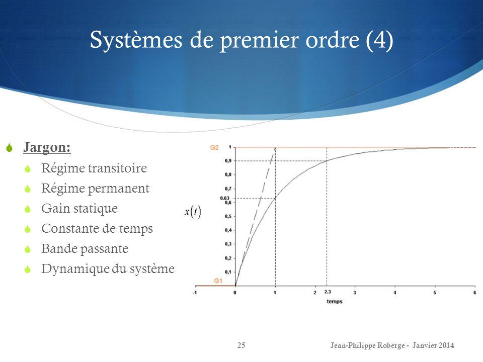 Systèmes de premier ordre (4)
