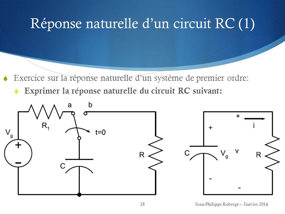Réponse naturelle d'un circuit RC (1)