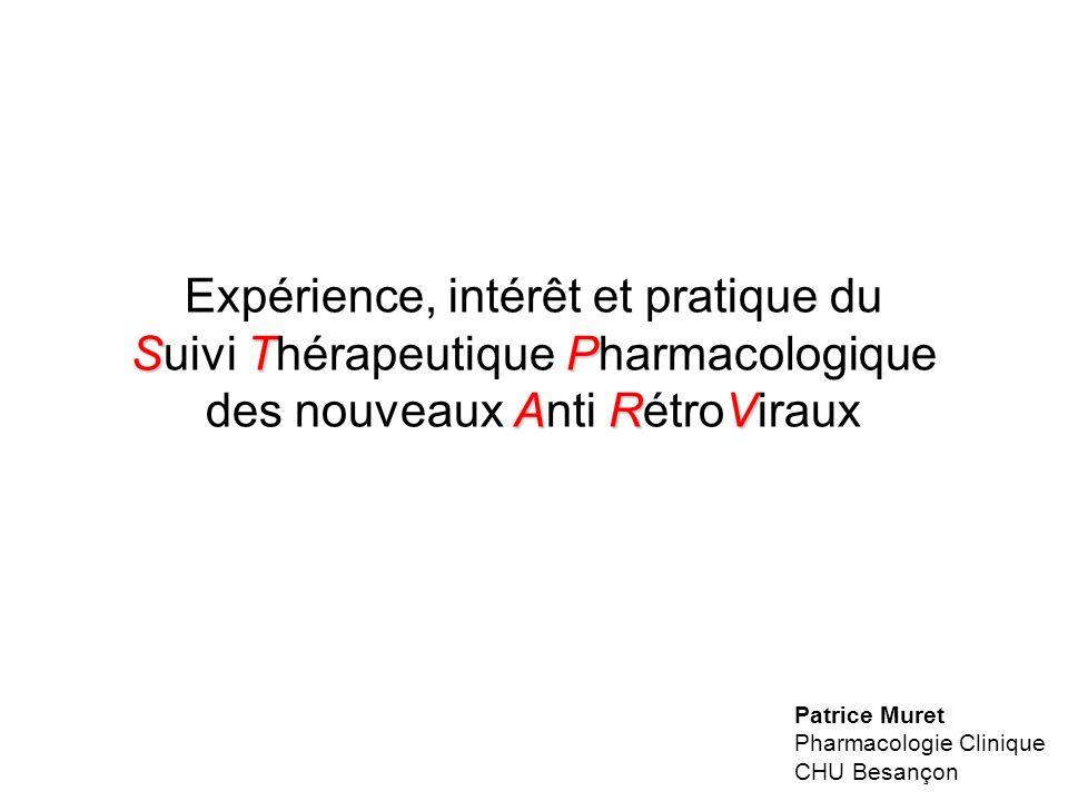 Expérience, intérêt et pratique du Suivi Thérapeutique Pharmacologique des nouveaux Anti RétroViraux