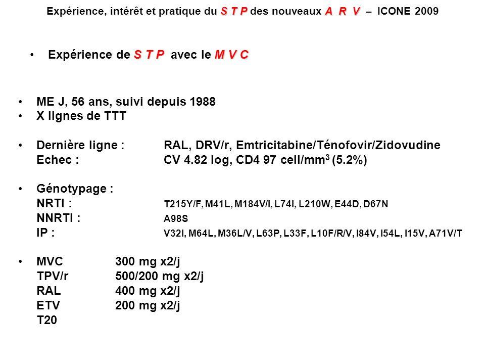 Expérience de S T P avec le M V C