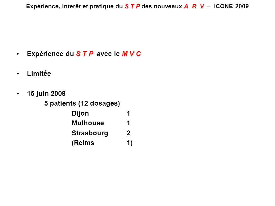 Expérience du S T P avec le M V C Limitée 15 juin 2009
