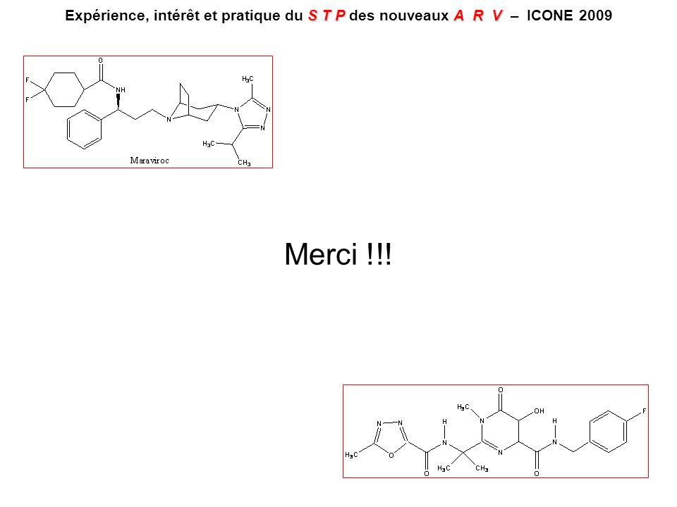 Expérience, intérêt et pratique du S T P des nouveaux A R V – ICONE 2009