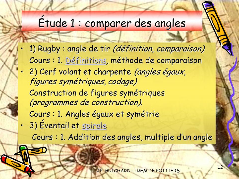 Étude 1 : comparer des angles