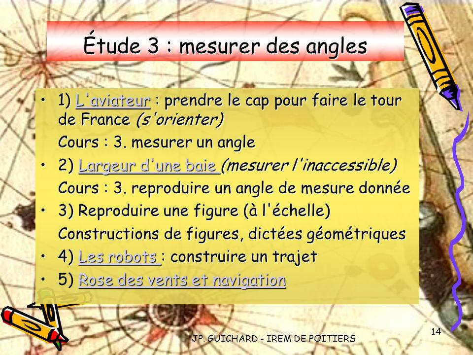 Étude 3 : mesurer des angles