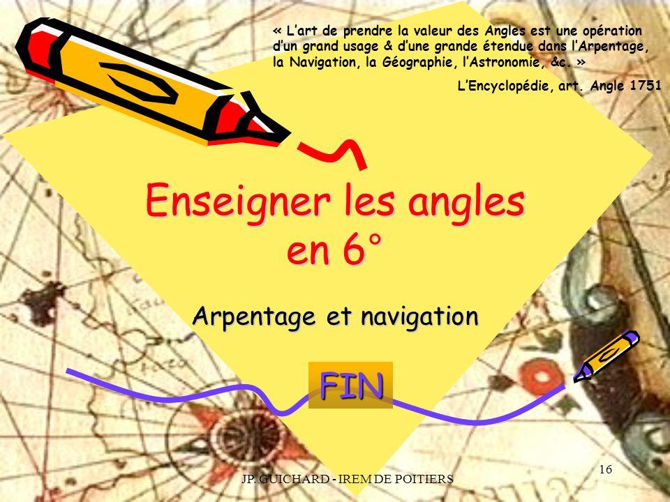 Enseigner les angles en 6°