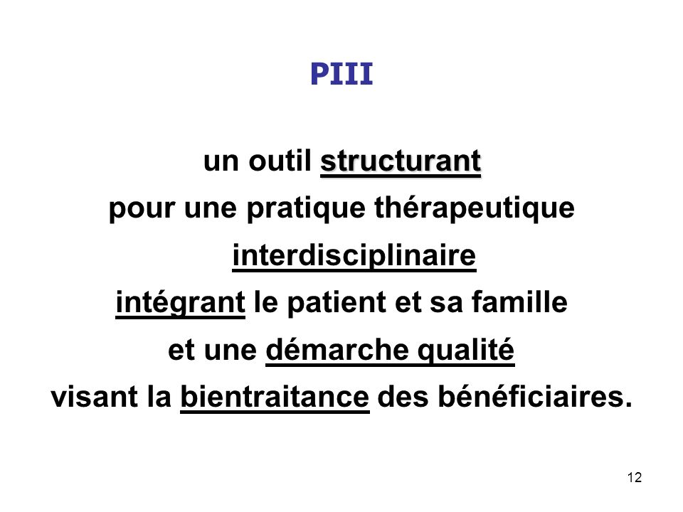 pour une pratique thérapeutique interdisciplinaire