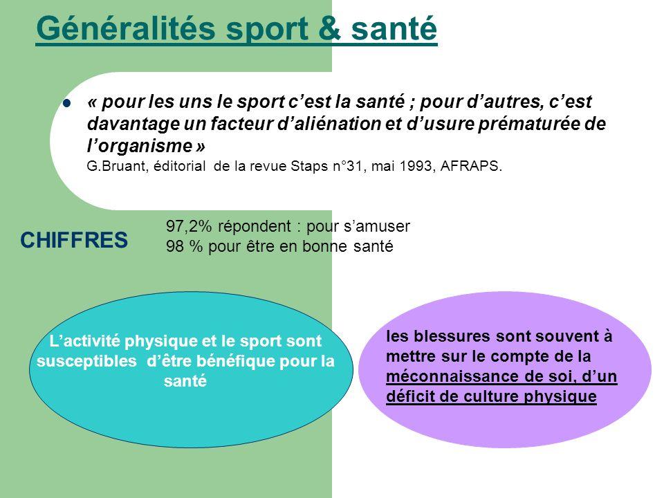 Généralités sport & santé