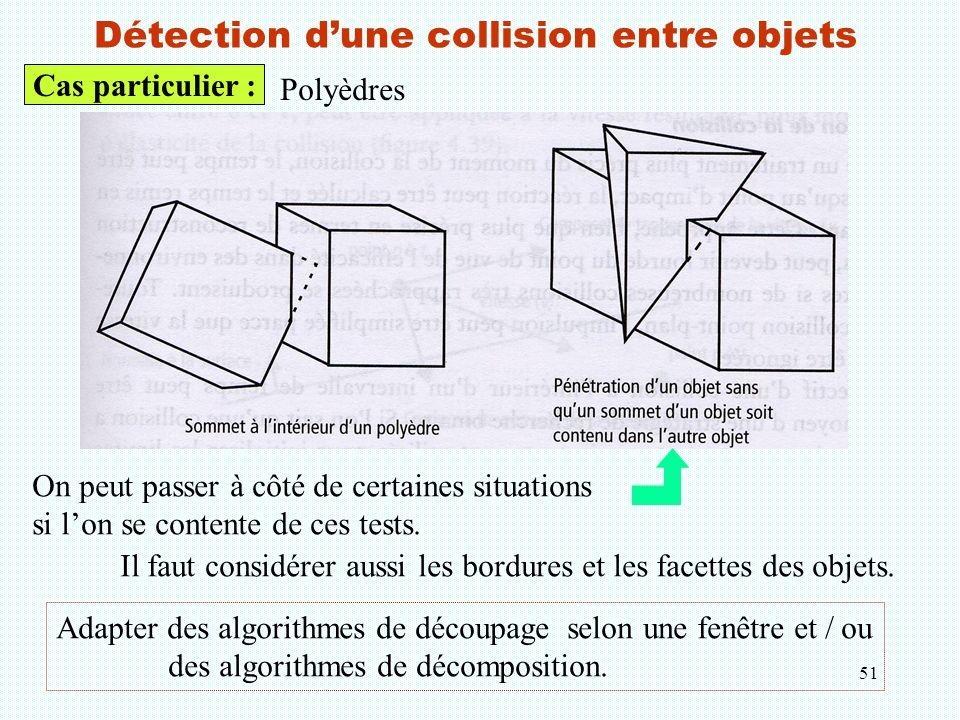 Détection d'une collision entre objets