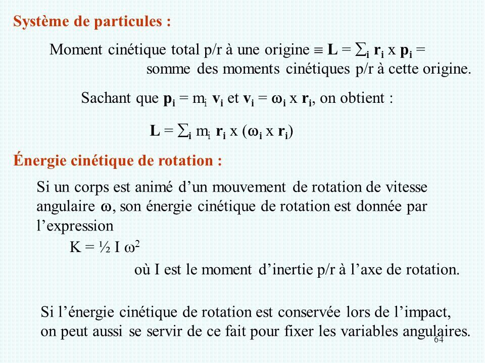 Système de particules :