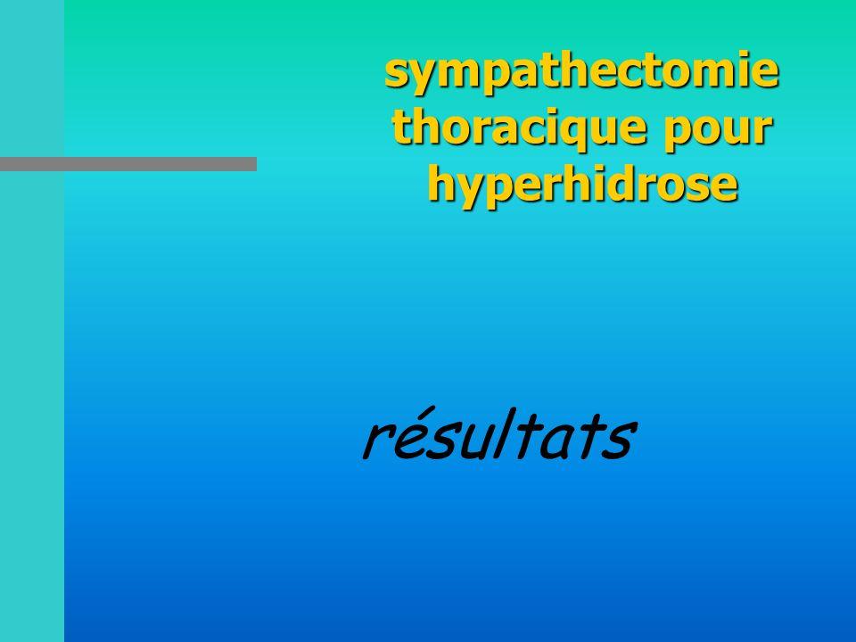 sympathectomie thoracique pour hyperhidrose