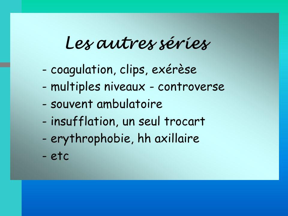 - multiples niveaux - controverse - souvent ambulatoire