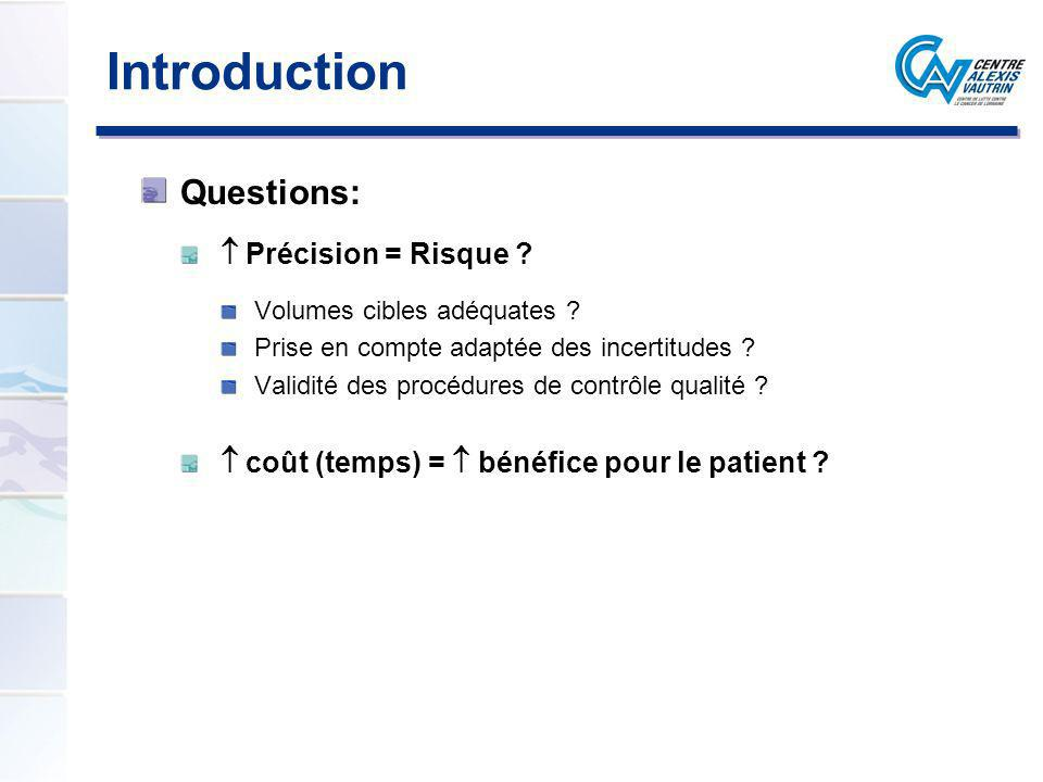 Introduction Questions:  Précision = Risque