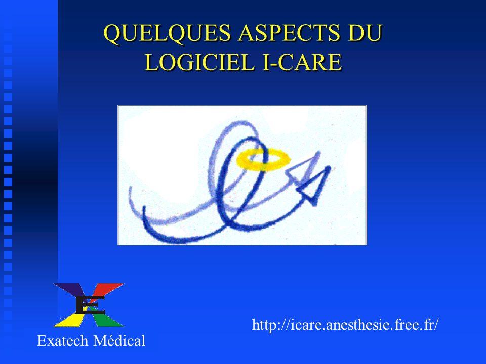 QUELQUES ASPECTS DU LOGICIEL I-CARE