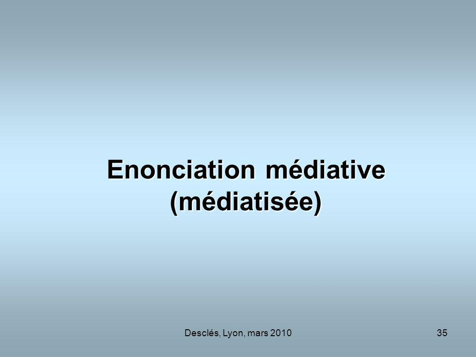 Enonciation médiative (médiatisée)
