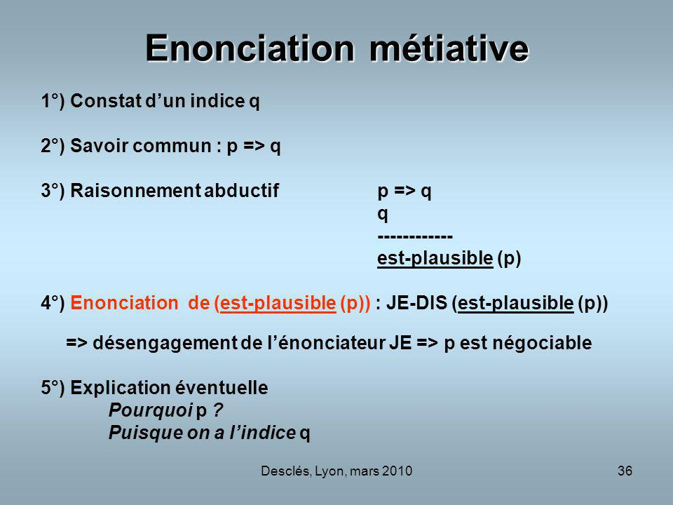 Enonciation métiative